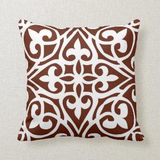 Salmaのあずき色のアラビアタイルの枕 クッション