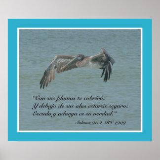 Salmosの91:4の詐欺Pelicano Volando (カルテル) ポスター