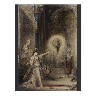 Salomeおよび亡霊のギュスターヴ・モローの水彩画 ポストカード