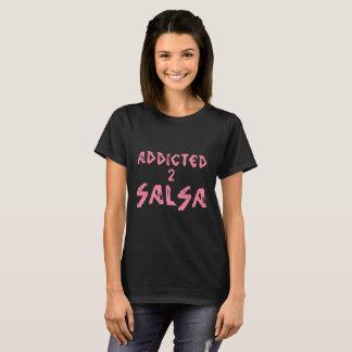 salseraまたはsalseroのための常習している2サルサのTシャツ Tシャツ