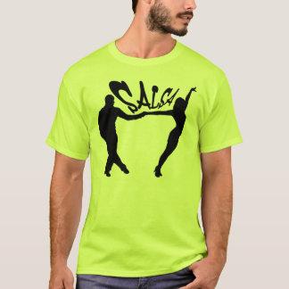 SALSEROおよびSALSERAのTシャツを踊るサルサ Tシャツ