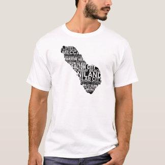 Saltonの海の単語の地図: ライト tシャツ