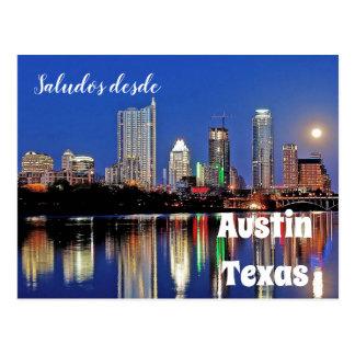 Saludosのdesdeオースティンテキサス州-郵便はがき ポストカード