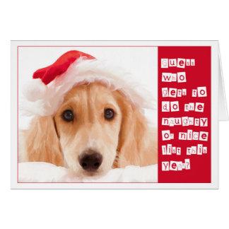 Salukiのクリスマスの挨拶状 カード