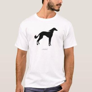 Salukiのシルエット Tシャツ