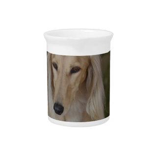 Salukiブロンドの犬 ピッチャー