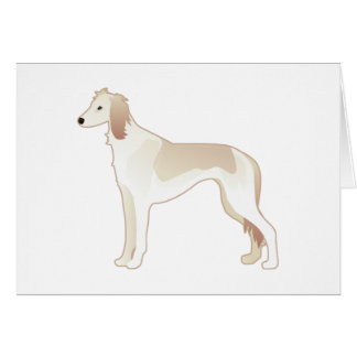Saluki基本的な犬の品種イラストレーションのシルエット カード