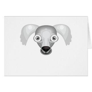 Saluki犬の品種-私の犬のオアシス カード