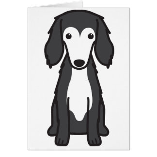 Saluki犬の漫画 カード
