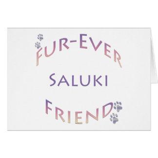 Saluki Fureverの友人 カード