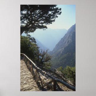 Samariaの峡谷、クレタ ポスター