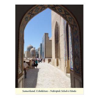 Samarkand, Nekropole Schah-i-Sinda in Usbekistan ポストカード
