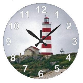 Sambroの島の灯台 ラージ壁時計