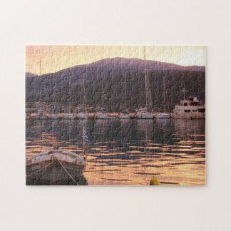 Samiのボート(Kefalonia)上の日没 ジグソーパズル