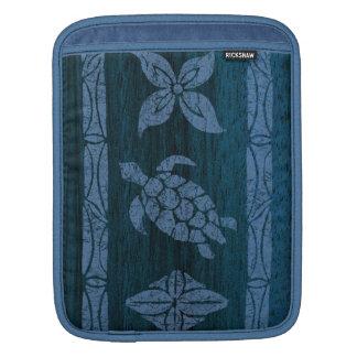 Samoan樹皮布のサーフボードの人力車のiPadの場合 iPadスリーブ