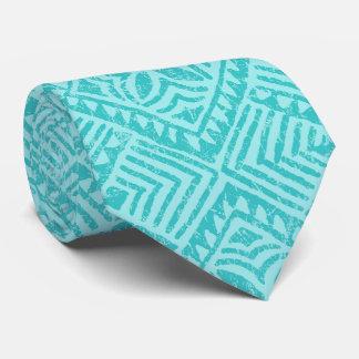 Samoan樹皮布の印刷される熱帯水の両面 カスタムネクタイ