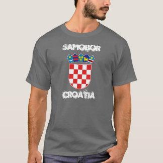 Samobor、紋章付き外衣が付いているクロアチア Tシャツ