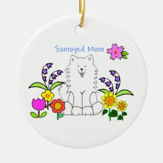 Samoyedのお母さんのオーナメント セラミックオーナメント