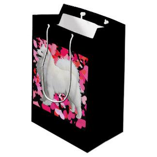 Samoyedのカスタムなギフトバッグ-無光沢媒体 ミディアムペーパーバッグ