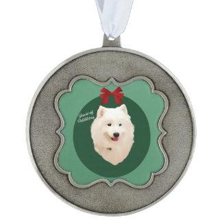 Samoyedのクリスマスのオーナメント; 署名される オーナメント