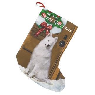 Samoyedのクリスマス スモールクリスマスストッキング