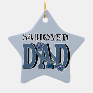 Samoyedのパパ セラミックオーナメント