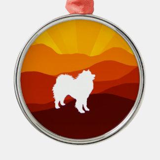 Samoyedの優れた円形のオーナメント; 形のの選択 メタルオーナメント