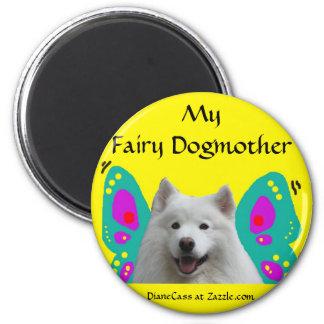 Samoyedの妖精Dogmother マグネット