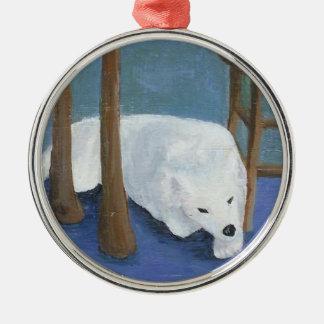Samoyedの子犬のオーナメント メタルオーナメント