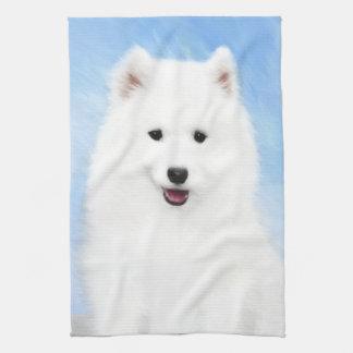 Samoyedの子犬 キッチンタオル