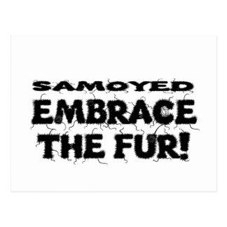 Samoyedの容認毛皮 ポストカード
