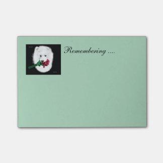 Samoyedの後it®ノート4 x 3; ノートの記憶! ポストイット