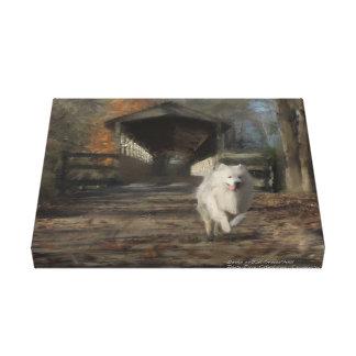 """Samoyedの手塗りの優れたキャンバスのプリント11X14 """" キャンバスプリント"""