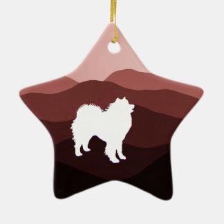 Samoyedの星の陶磁器のオーナメント; 形の選択 セラミックオーナメント