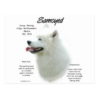 Samoyedの歴史のデザイン ポストカード