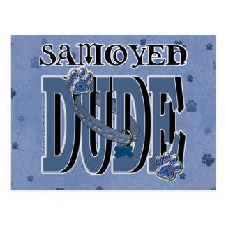 Samoyedの男 ポストカード