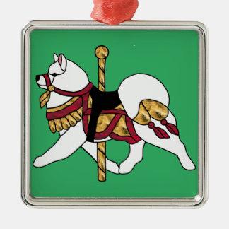 Samoyed優れたSq.Ornament -クリスマスまたはいつでも メタルオーナメント