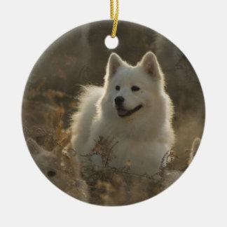 Samoyed犬のオーナメント セラミックオーナメント
