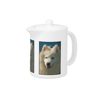 Samoyed犬のティーポット