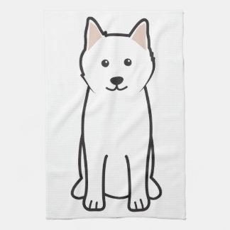 Samoyed犬の漫画 キッチンタオル