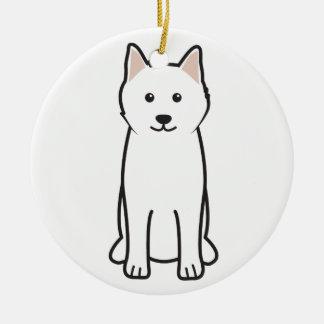 Samoyed犬の漫画 セラミックオーナメント