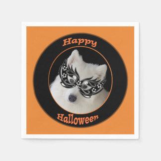 Samoyed Halloween Cocktail Napkins スタンダードカクテルナプキン
