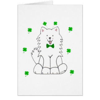 Samoyed Saint patricks day カード