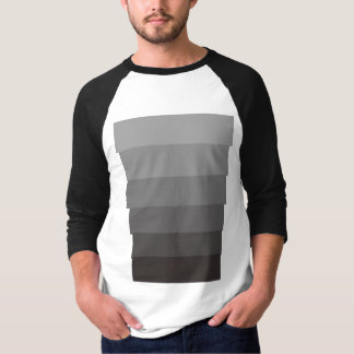 Sampannaの幾何学的なプリントのおなかのトリム Tシャツ