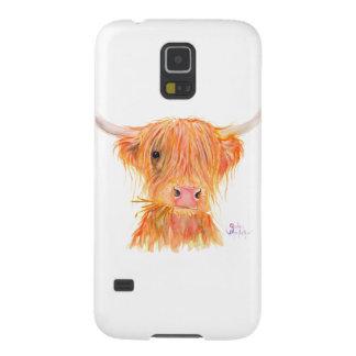Samsungの例のためのスコットランドの高地牛「Fergus」 Galaxy S5 ケース