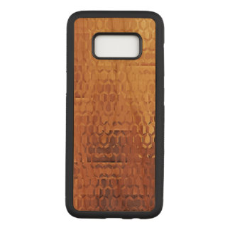 Samsungの金銀河系S8はさくらんぼ木箱を細くします Carved Samsung Galaxy S8 ケース