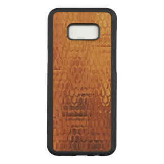 Samsungの金銀河系S8+ 細いさくらんぼ木箱 Carved Samsung Galaxy S8+ ケース