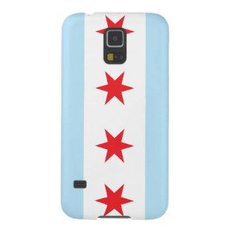 Samsungの銀河系の関連のためのシカゴの旗の箱 Galaxy S5 ケース