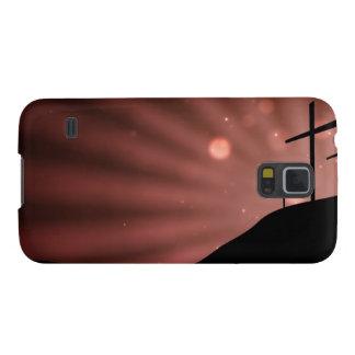 Samsungの銀河系の関連の赤いスターバストの箱 Galaxy S5 ケース