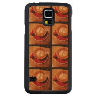 Samsungの銀河系S5のコーヒー箱 CarvedチェリーGalaxy S5スリムケース